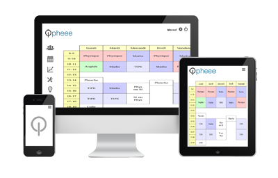 pheee timetable generator is suitable for all your devices and platforms